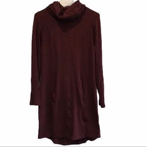 Maurices burgundy cowl neck sweater dress xs